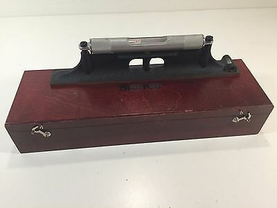 L.s. Starrett No. 98 Machinist Level 12 With Wooden Case - Nice Condition