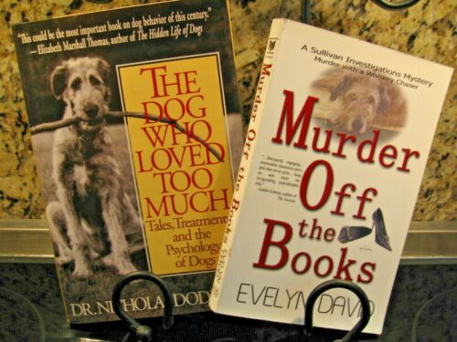 Irish Wolfhound Books Lot of 2 NEW *Murder off the Books & The Dog Who Loved Too