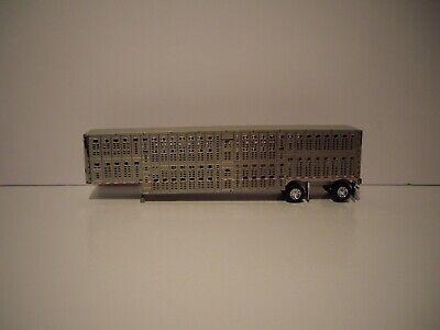 DCP FIRST GEAR 1/64 SPREAD AXLE WILSON SILVER STAR LIVESTOCK TRAILER  1