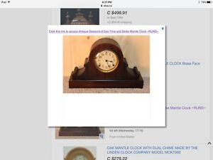 Antique Mantle Chime clock made by Sessions Clock Co.