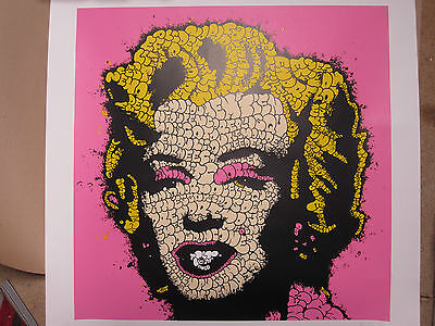 TILT MARILYN ORIGINAL SIGNED  PRINT rare  Ltd Edition 45 POW Banksy Dolk  stable