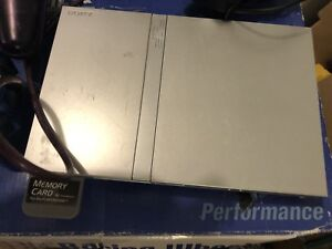 Play station 2 silver slim plus controller for sale