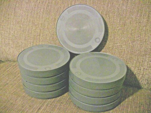 NINE- 400ft 16mm Plastic CANS - NEW ARCHIVAL