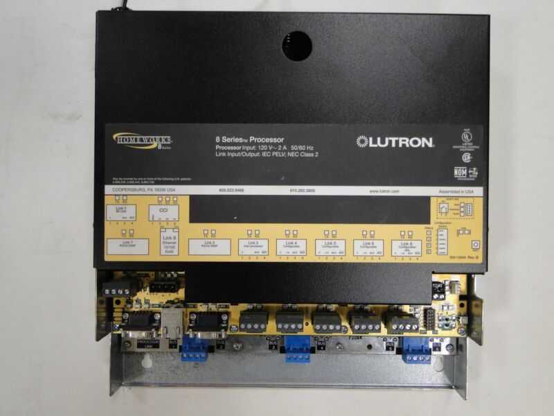 LUTRON HOMEWORKS H8P5-MI-H48-120 Processor - New Battery.
