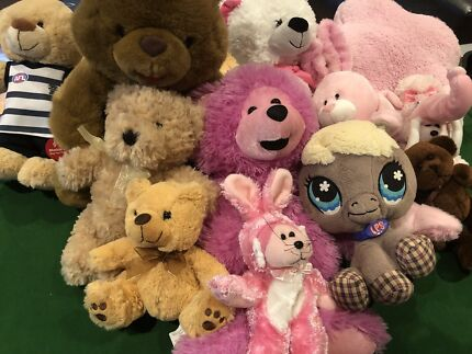 Assorted stuffed animals