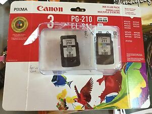 2 New Canon ink cartridges PG-210 black, CL-211 color