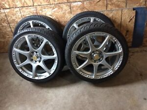 4 summer tires with mag 205/40/17 (4x100,4x114.3)