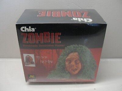 NEW CHIA PET ZOMBIE HANDMADE DECORATIVE PLANTER LIFELESS LISA HALLOWEEN - Chia Pet Halloween