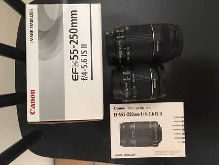 Wanted: canon 18-55mm and/or 55-250mm IS