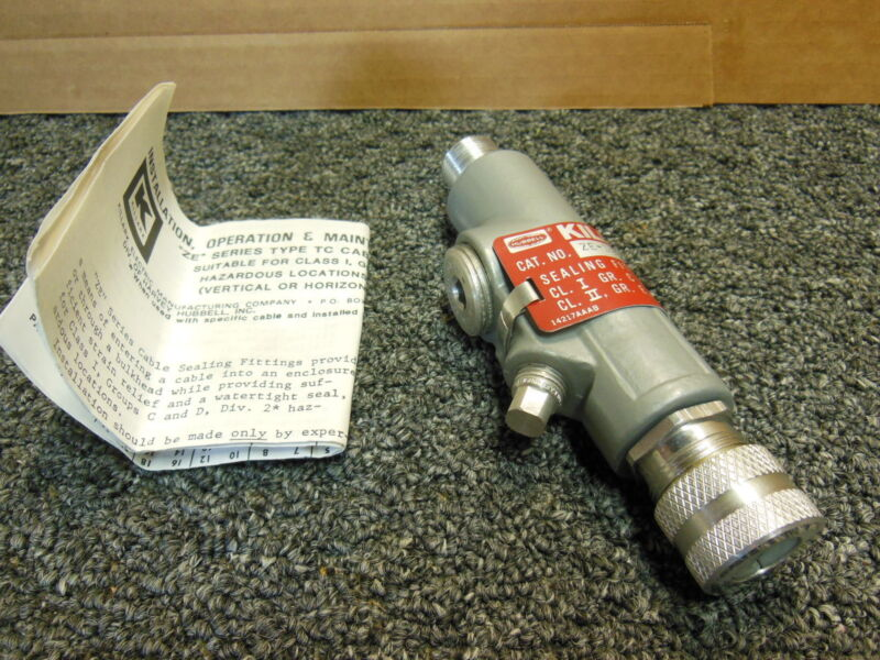 "Killark ZE-123 size 1/2"" Hazardous Location cable sealing"