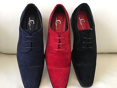 Italian Lace Shoes - AMALI Mens Dress Suede PU Shoes Lace up Prom Wedding Tuxedo Italian Style Shoes