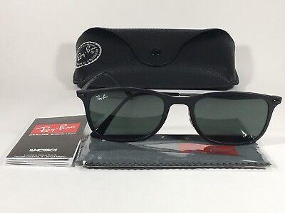 Ray-Ban New Wayfarer LightRay Tech Titanium Sunglasses RB4225 Matte Black (Ray Ban Wayfarer Tech)