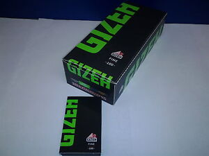 Gizeh Blättchen / Papier 100 Blatt Black Fine / grün Magnet 20x