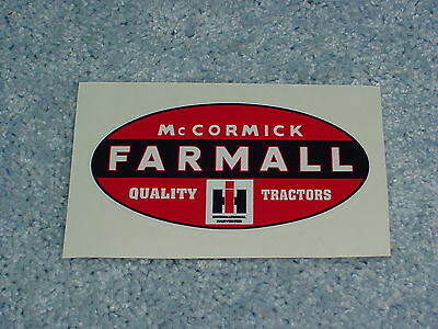 IH INTERNATIONAL HARVESTER MCCORMICK FARMALL TRACTOR DECAL STICKER
