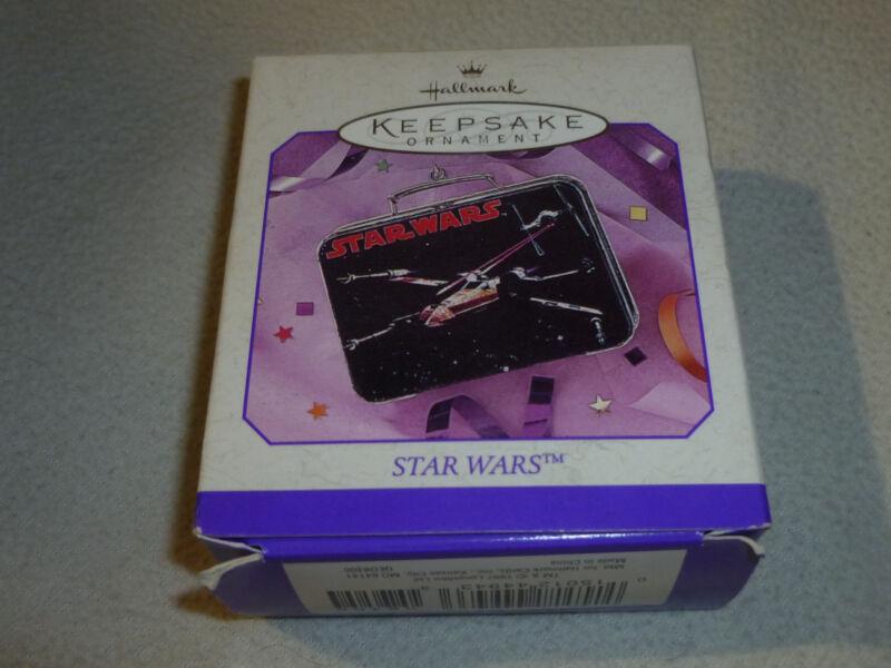 NEW IN BOX HALLMARK KEEPSAKE STAR WARS PRESSED TIN LUNCH BOX 1998 ORNAMENT POTF