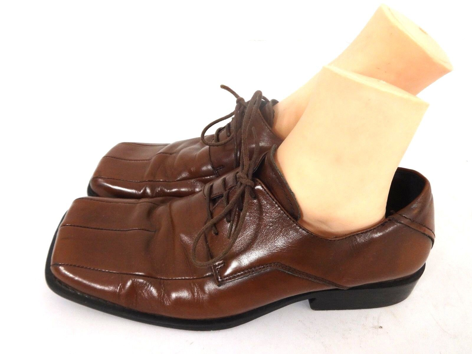 7c1170ce86b STEVE MADDEN MENS BROWN LEATHER LACE UP OXFORDS SHOES SIZE 10 M US ...