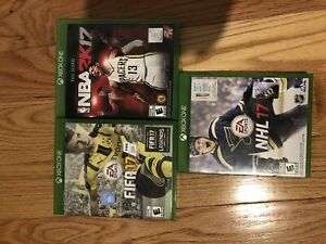 Package of 2017 sports games for xbox one