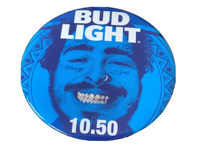 """Post Malone (Bud Light Concert Series) 6"""" Pin! Giant Button Collectable"""