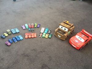 Pixar Lightning McQueen and Mater toys with mini cars Adelaide CBD Adelaide City Preview