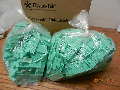 Biopsy Cassette Sakura Tissue-tek 4174 Bio Green Plastic 500 Pcs New