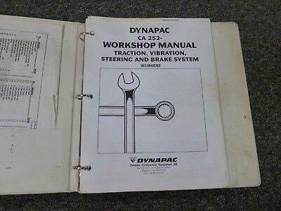 Dynapac Ca252 Vibratory Smooth Drum Roller Shop Service Repair Manual W1066en2