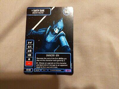 Star Wars Destiny World Exclusive Promo - Non-Foil Darth Bane - Ancient Master