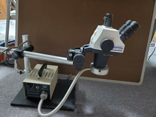Bausch & Lomb Stereo Zoom 6 Trinocular Microscope, Boom Stand and light source