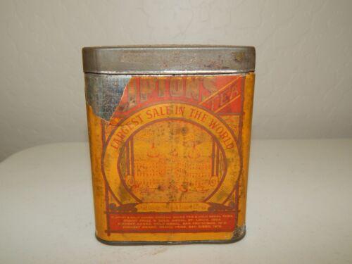 Vintage Lipton Tea Tin Can ~ Paper Label ~ Advertising