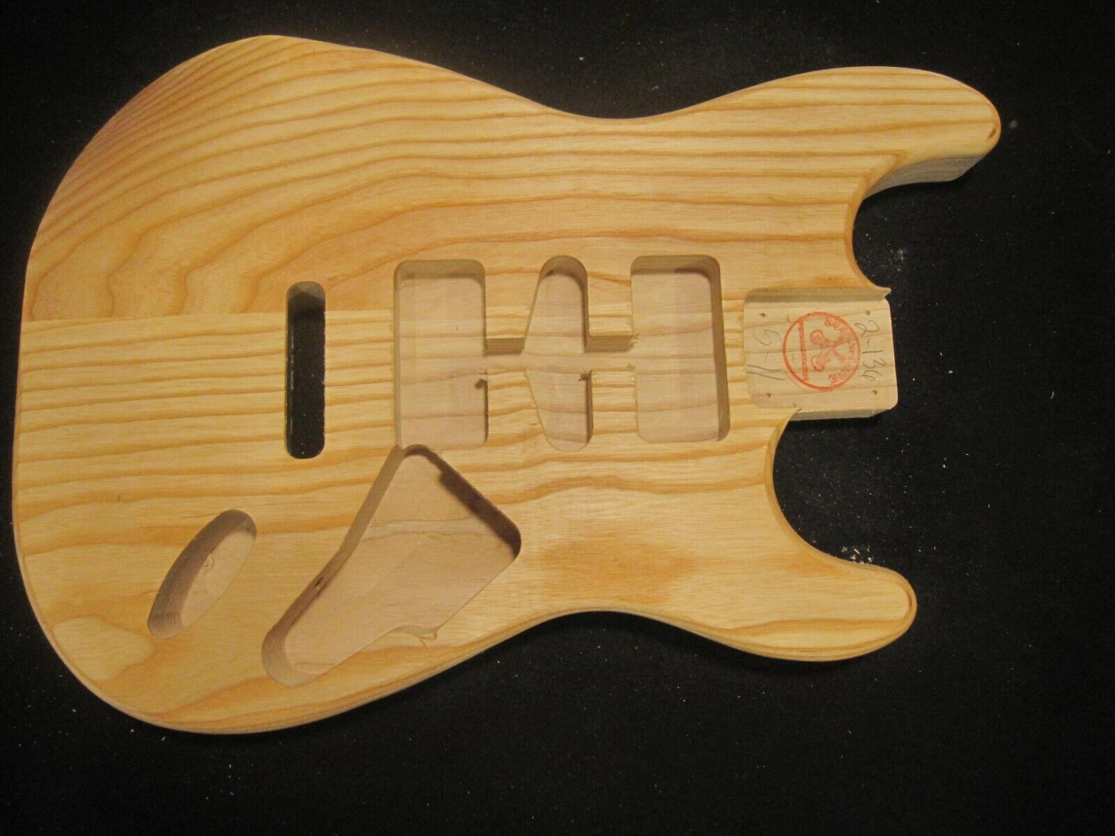 2-136 Stratocaster Body, US MADE, Unfinished, Ash - $89.99