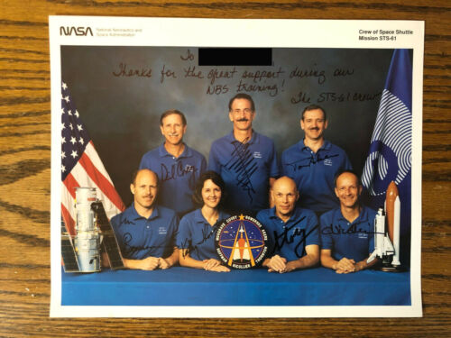 NASA Space Shuttle STS-61 Crew Autographed Lithograph Print - Hand signed by all