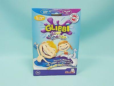 Glibbi Colour Change Blau/Lila Kinder Badespaß Pulver Badewanne Simba Wanne