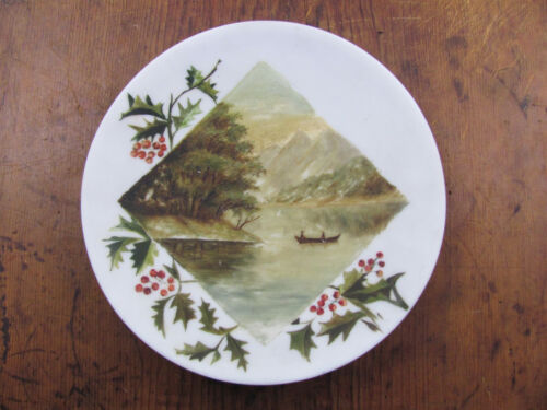 Orignal MT Washington Glass Blank Victorian Folk Painting Hudson River Romance