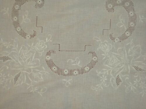 Antique&Vintage Madeira Handmade Cotton Large Tablecloth**Code:m102*