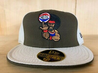 Vintage Fitted Cap (VINTAGE NEW ERA NEW JERSEY NETS FITTED HAT CAP BROWN BEIGE 59FIFTY )