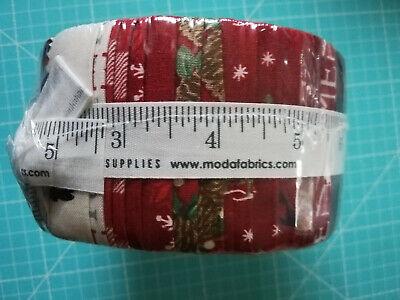 Holiday Lodge Strips Jelly Roll 40 Stoffstreifen 6,35 X 112 cm Baumwolle moda
