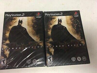 Batman Begins (Sony PlayStation 2, 2005) New In Shrink!
