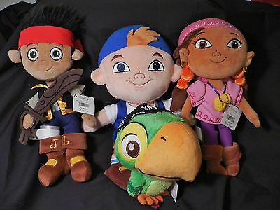CuBBy+IzzY+SkuLLy+JaKe~and the Never Land Pirates~PLUSH~30.5cm~NWT~Disney Store