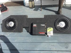 Custom sub box 2 10in subs amp and extra fuses