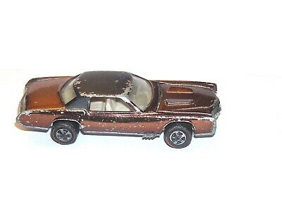 1968 Hot Wheels Redline Custom Eldorado US TRICKY BROWN YR1 ALL ORIGINAL CADDY!