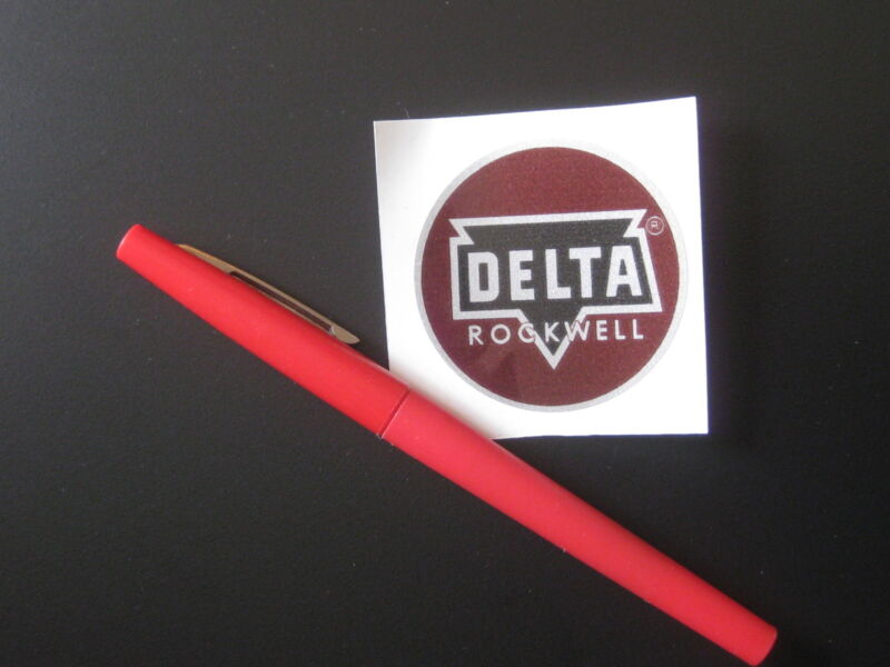 """2"""" DELTA ROCKWELL DECAL- for vintage Delta machinery - badge, nameplate, tag"""