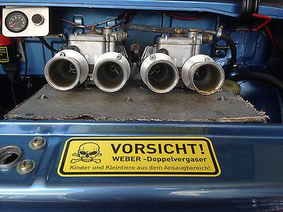 Aufkleber WEBER DOPPELVERGASER  Achtung NSU VW OPEL BMW  FIAT ALFA LANCIA