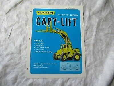 Pettibone Carry-lift Super 10 Series Brochure