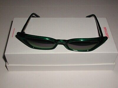 Poppy Lissiman Le Skinny Sunglasses GREEN with PURPLE Tinted Lens - Brand New