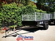 8x5 SINGLE BOX TRAILER WITH CAGE HEAVY DUTY 1 PC FOLD FULL CHECKE Penrith Penrith Area Preview