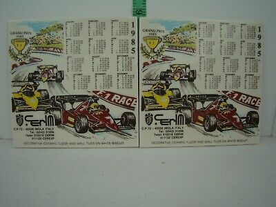 2 - Grand Prix 1985 Decorative Ceramic Floor and Wall Tile on White Biscuit