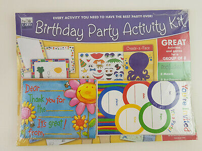Kids Birthday Party Kit Invitations Thank You Cards Activities Games Group of 8](Birthday Party Activities)