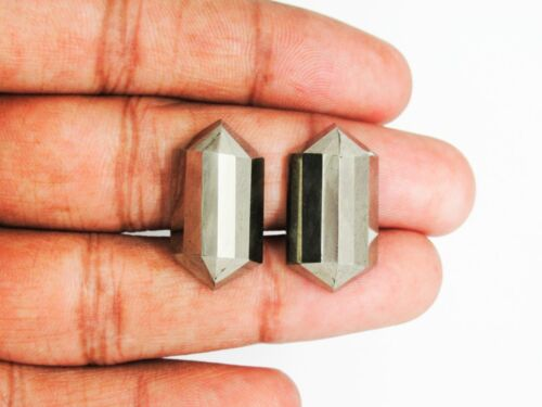 Natural Pyrite Gemstone Pairs Faceted Cabochon Fancy Shape Loose Gemstone Sale