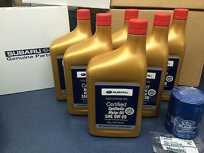 Genuine SUBARU Oil Change Kit Filter Gasket 6 Qts Synthetic Motor Oil SAE 0W-20
