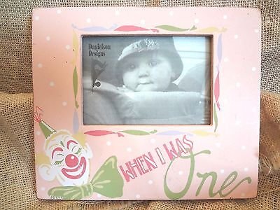 DANIELSON DESIGNS DISTRESSED WOOD PHOTO FRAME ~