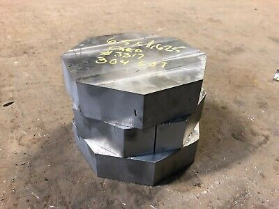 6.5 X 1.625 Thick 304 Stainless Steel Hex Bar Plate